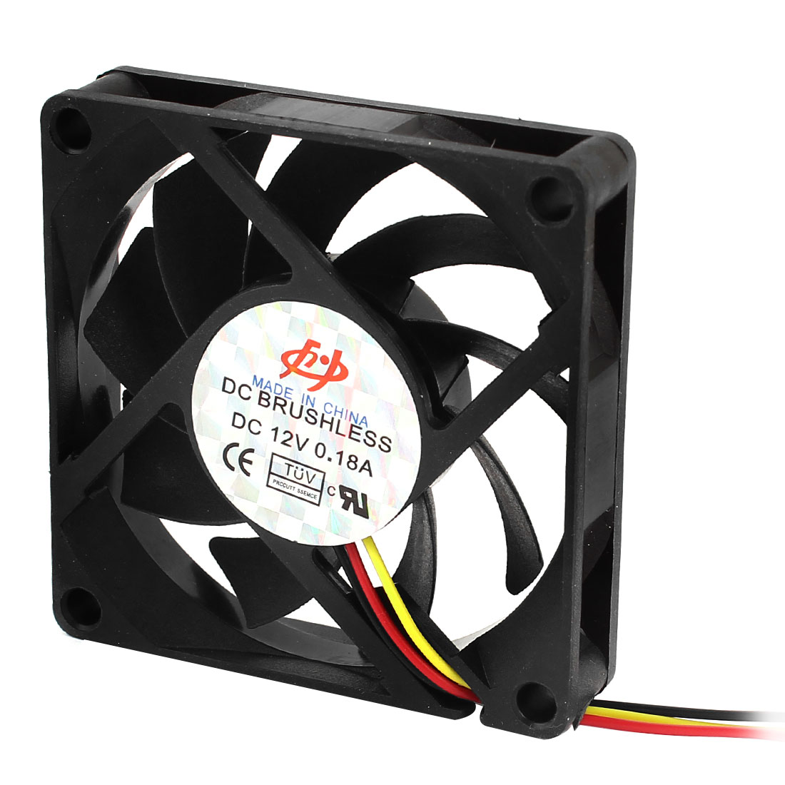 DC 12V 3 Cable 70 x 70 x 15mm Brushless Cooling Fan for Computer Case CPU Cooler