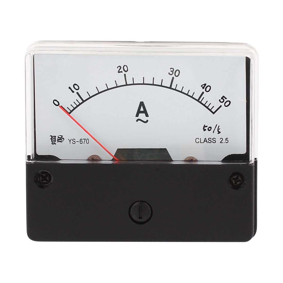 Analog Rectangle Panel AC Current Meter 0-50A Gauge YS-670