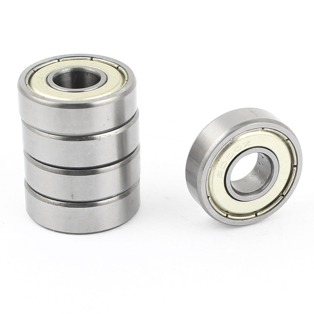 5 Pcs 10mm x 26mm x 8mm Double Metal Shielded Deep Groove Ball Bearings 20009