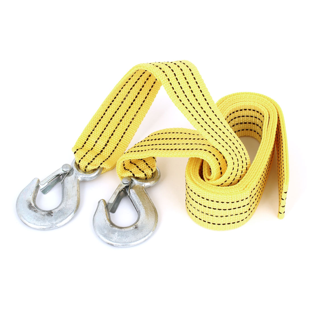 45mm Width 3 Meters Yellow Nylon Tow Webbing Strap Belt 3 Tons for Car