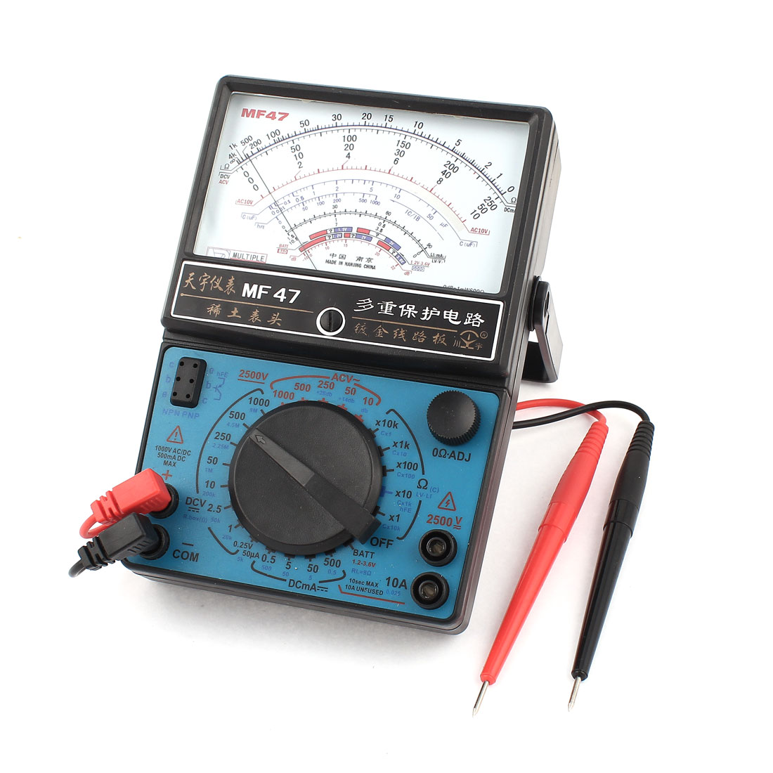 MF-47 Ohm Ampere Volt Diode Measuring Analog Multitester Multimeter Black