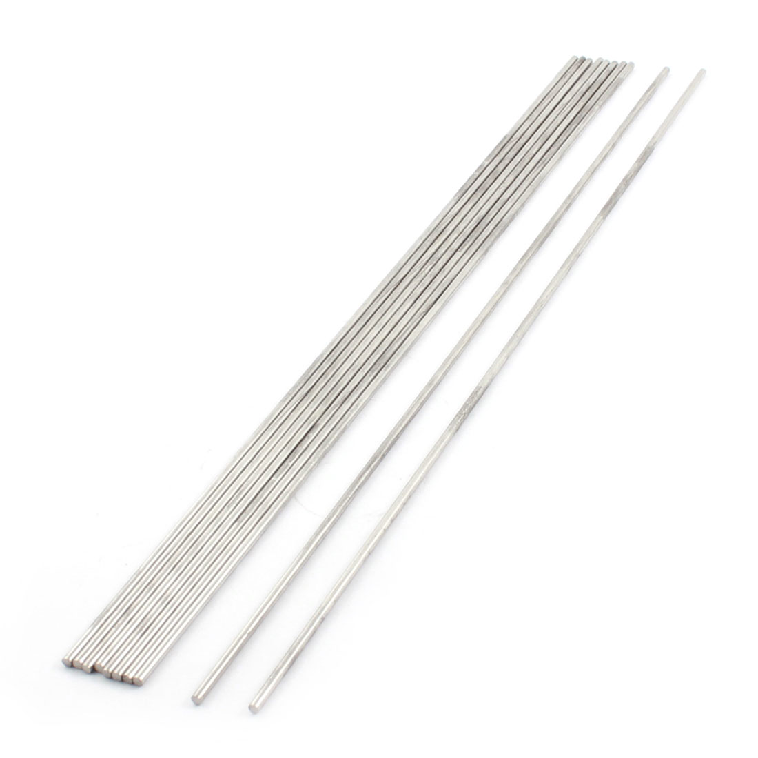 10PCS 300mm x 2.5mm Stainless Steel Straight Axle Round Rod for RC Model Car