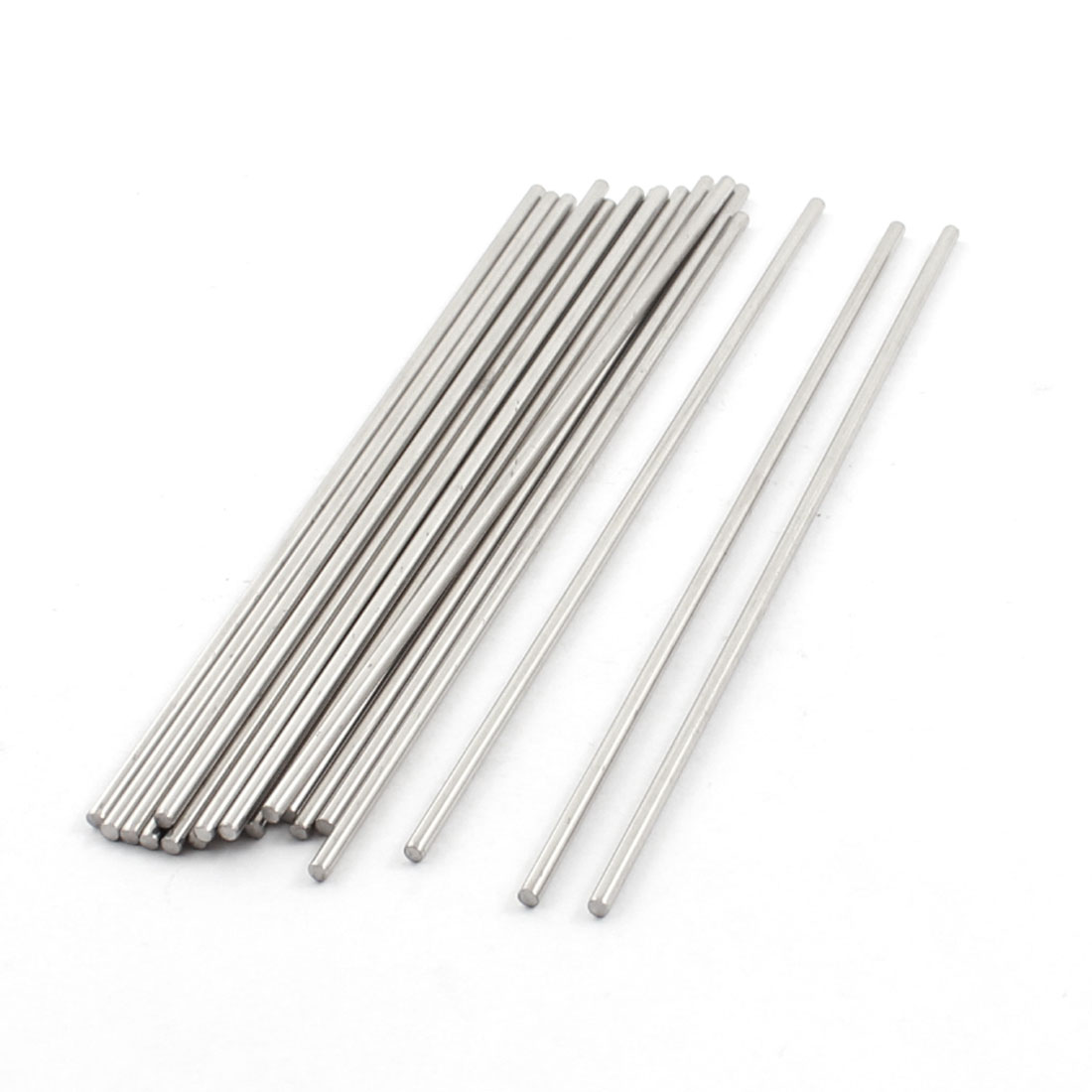19Pcs RC Truck Toy Spare Parts Stainless Steel Round Rod Bar Shaft 110mm x 2mm