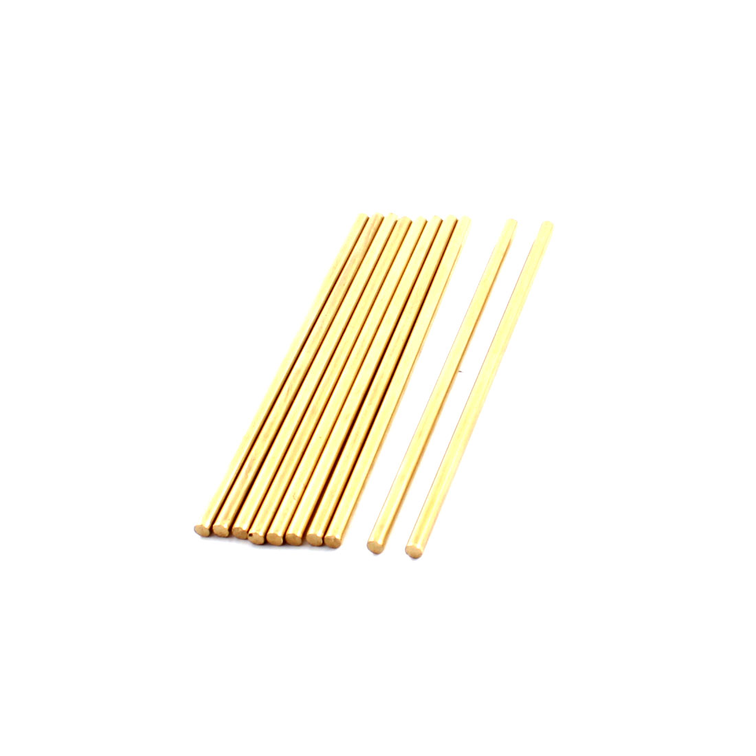 10 Pcs 3mm Dia 90mm Length Brass Solid Round Rod Bar for DIY RC Toy