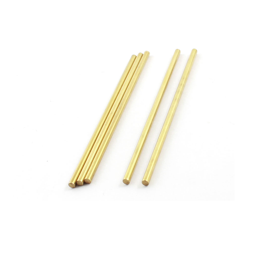 5pcs 3mm x 90mm Brass Tone Round Rod Bar Shaft Spare Part for DIY RC Car Racer
