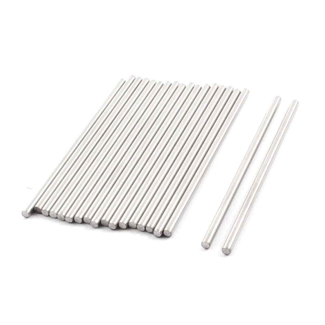 19pcs 90mm x 3mm Stainless Steel Round DIY Gear Axles Shaft Rod Silver Tone for RC Model Car