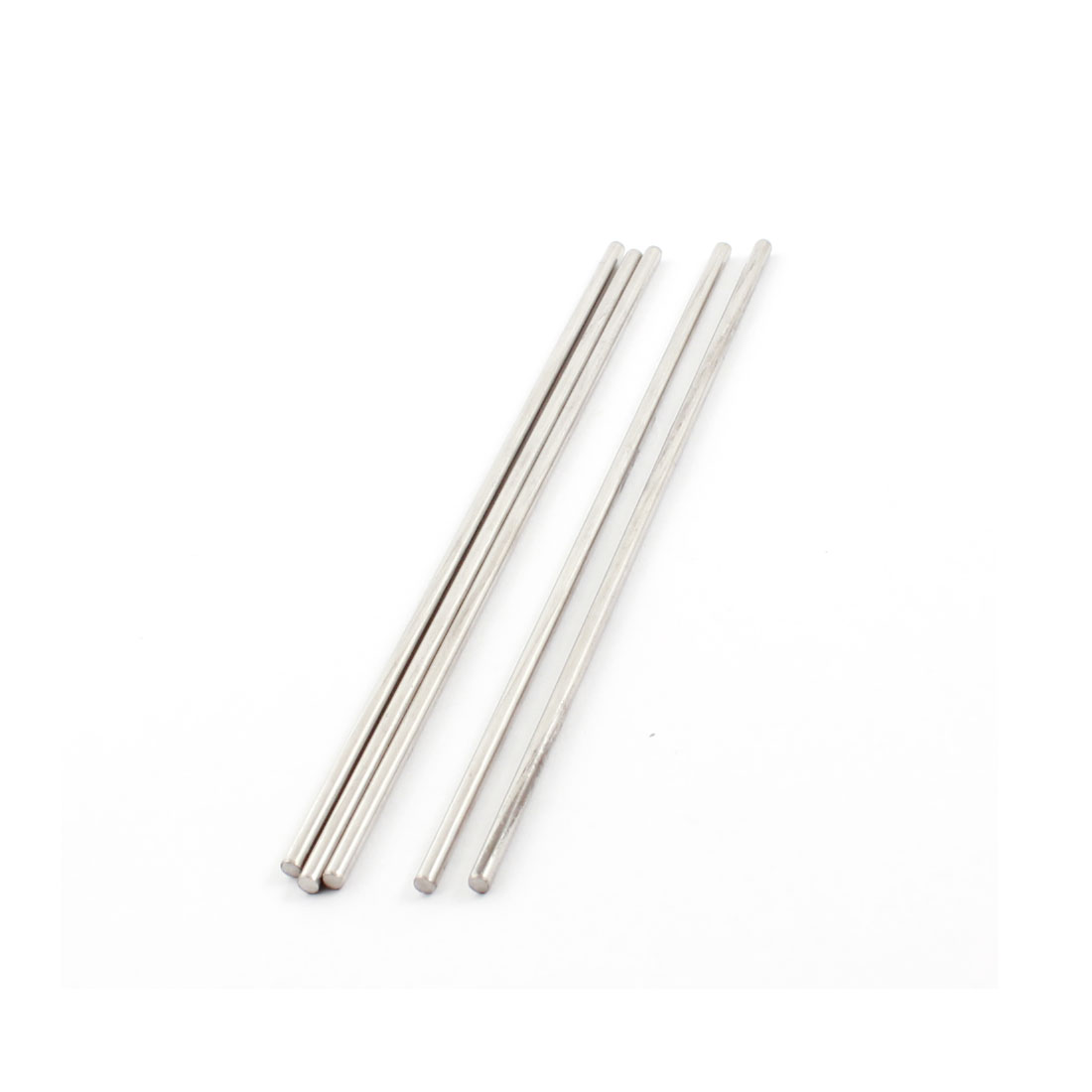 5pcs 120mmx2.5mm Silver Tone Stainless Steel Straight Axles Round Shaft Rod Bar for DIY RC Model Toy