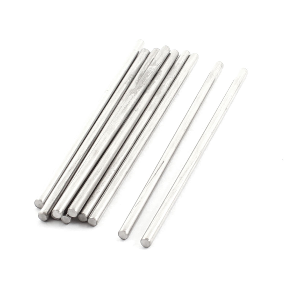 10pcs 70x2.5mm Silver Tone Stainless Steel Round Axles Shaft Rod for DIY RC Model Car