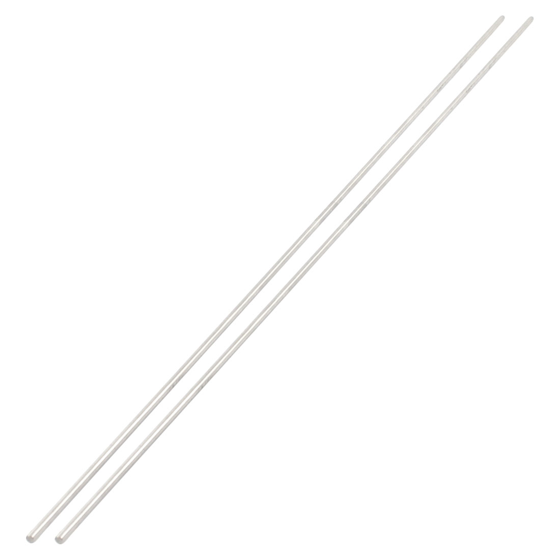 2 Pcs 2.5mm Diameter 450mm Length Stainless Steel RC Car Gear Axle Straight Rod Stick