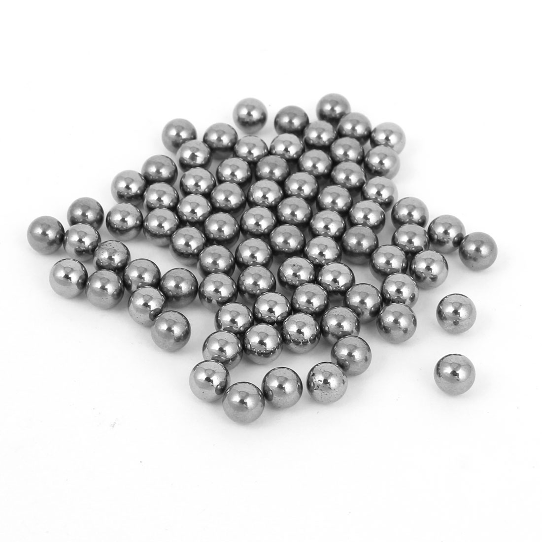 100 Pcs Bike Bicycle Bearing Parts 6mm Diameter Steel Bearing Ball Silver Tone