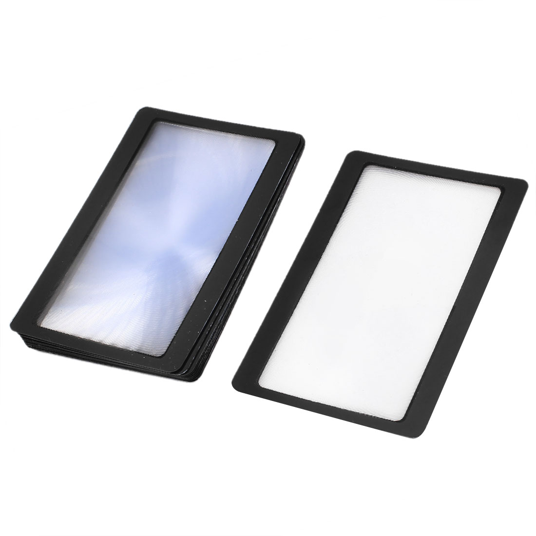 10 Pcs Black Frame Credit Card Reading Magnifier 3x Magnifying Wallet Loupe Lens