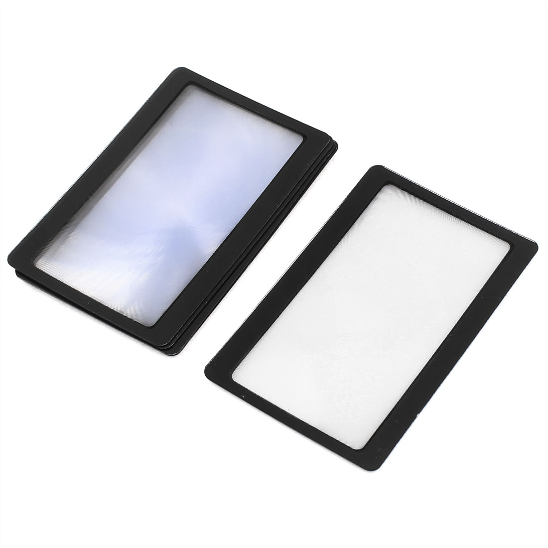 6 Pcs Black Frame Credit Card Reading Magnifier 3x Magnifying Wallet Loupe Lens