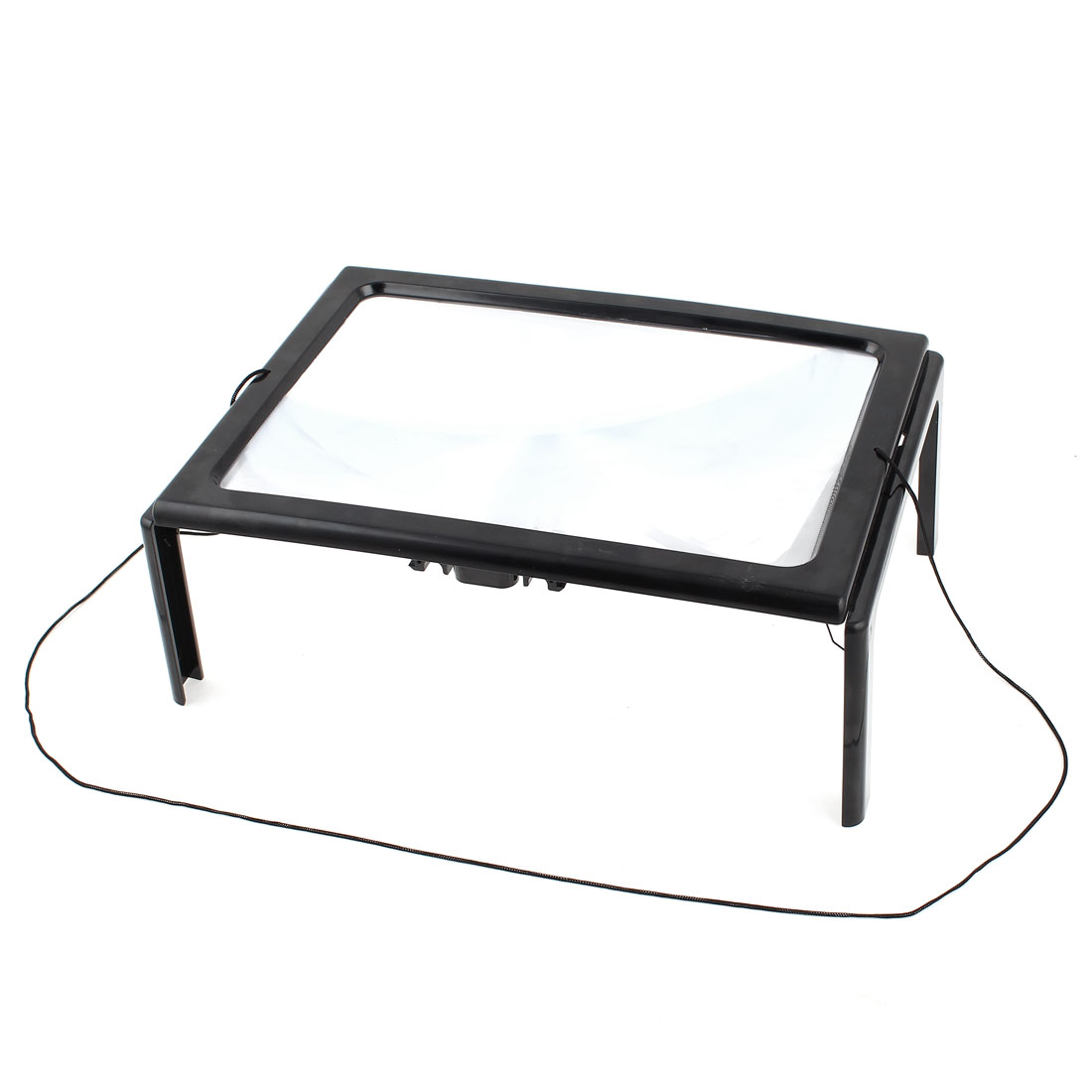 Foldable A4 Size Hands Free White LED Lights 3x Magnifying Lens Reading Magnifier