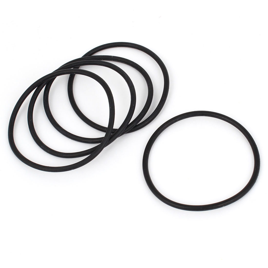 5pcs 50mm Outside Dia Rubber Washers O Ring Oil Seal Gaskets Black