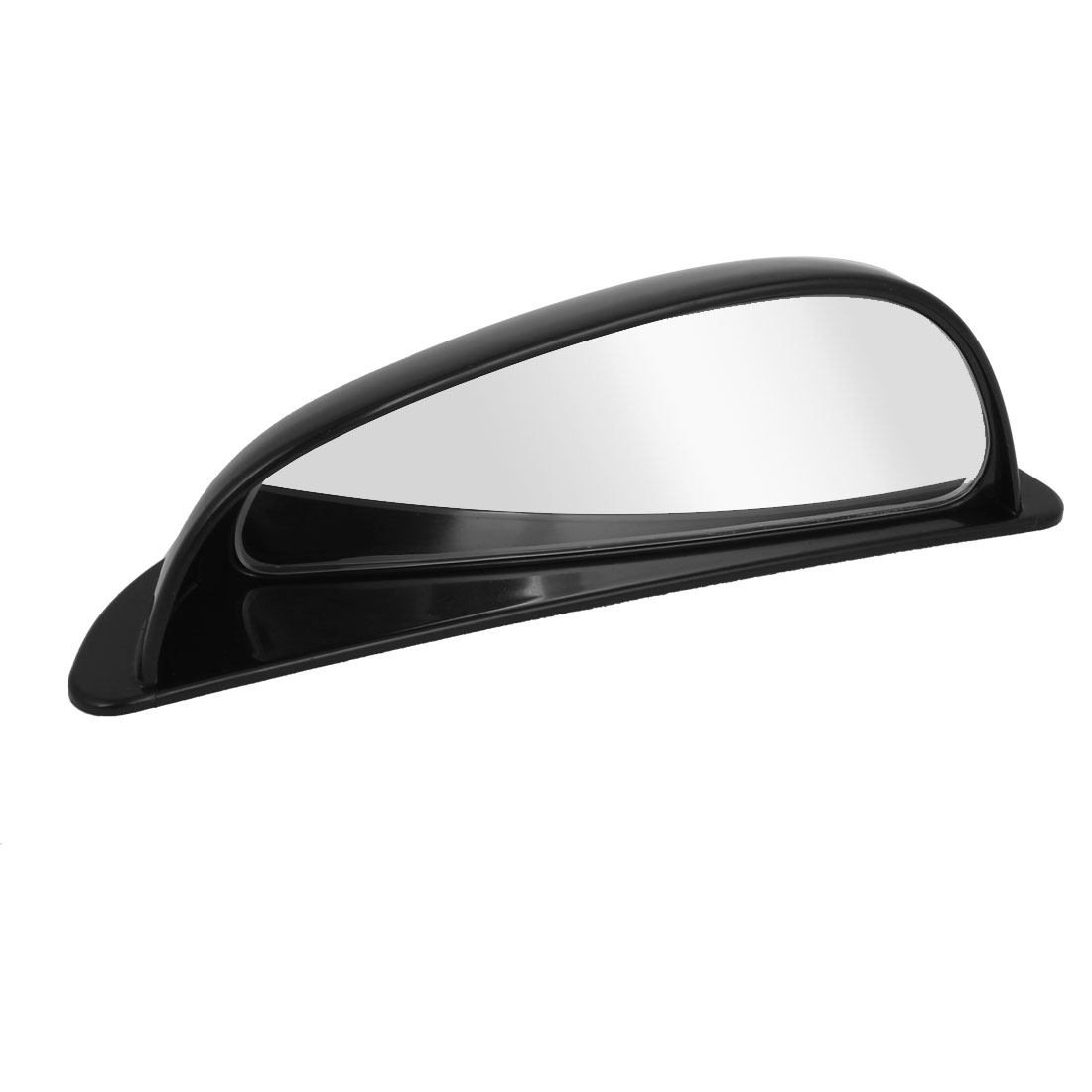 Black Plastic Shell Adhesive Back Wide Angle Right Rearview Mirror for Car