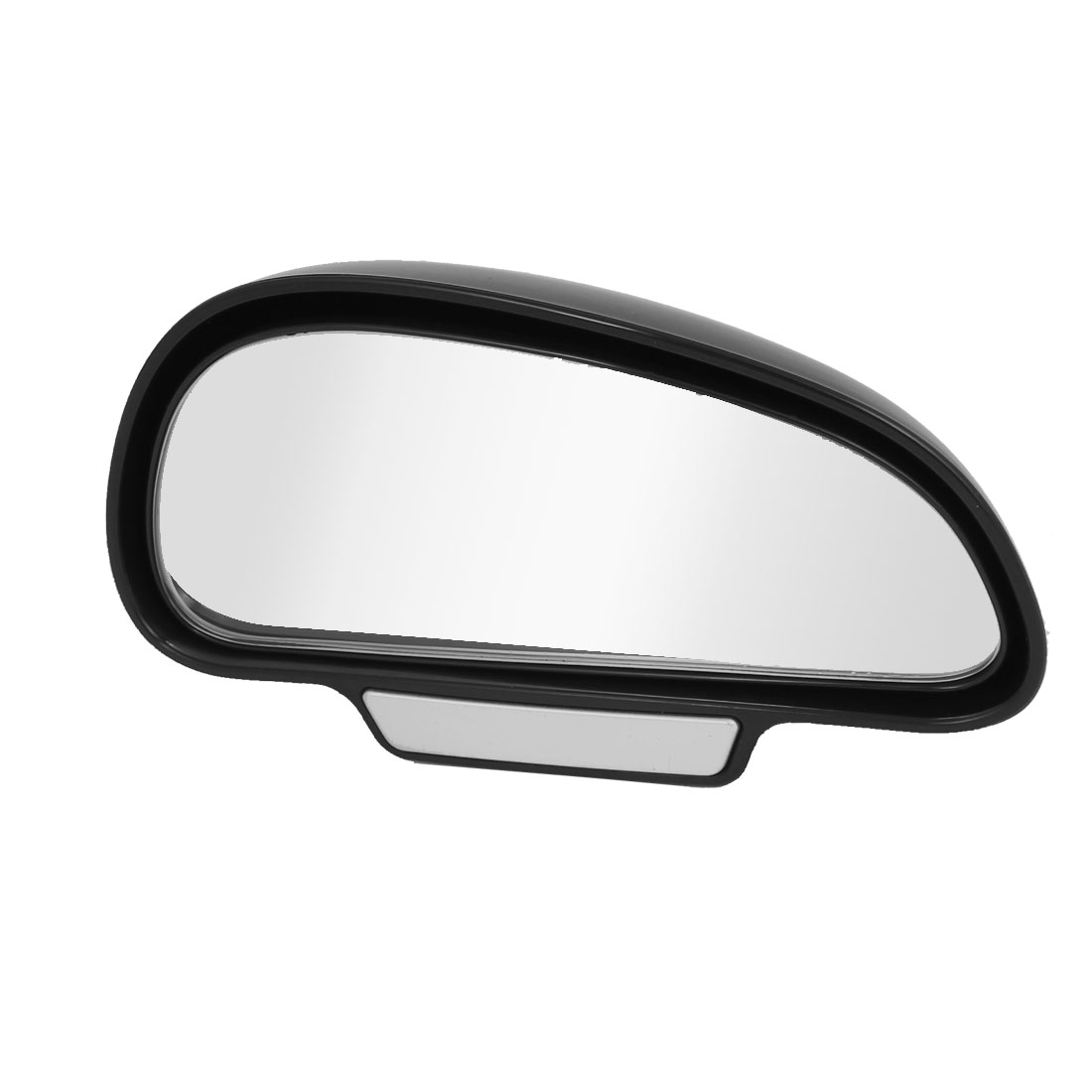 Black Vehicle Wide Angle Convex Right Side Rear View Blind Spot Mirror 13 x 7cm