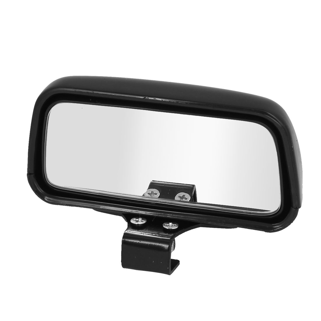 Car Vehicle Rectangle Wide Angle Convex Blind Spot Mirror Black 11 x 7cm