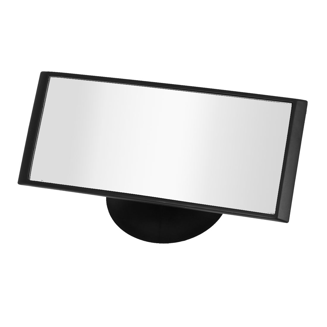 Car Black Plastic Frame Adjustable Wide Angle Rectangular Blind Spot Mirror