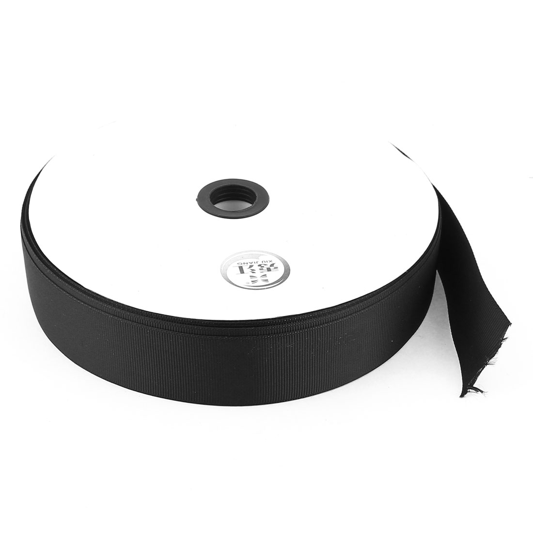 Black 3.2cm Width DIY Craft Gift Package Polyester Ribbon Roll Tape 100 Yard