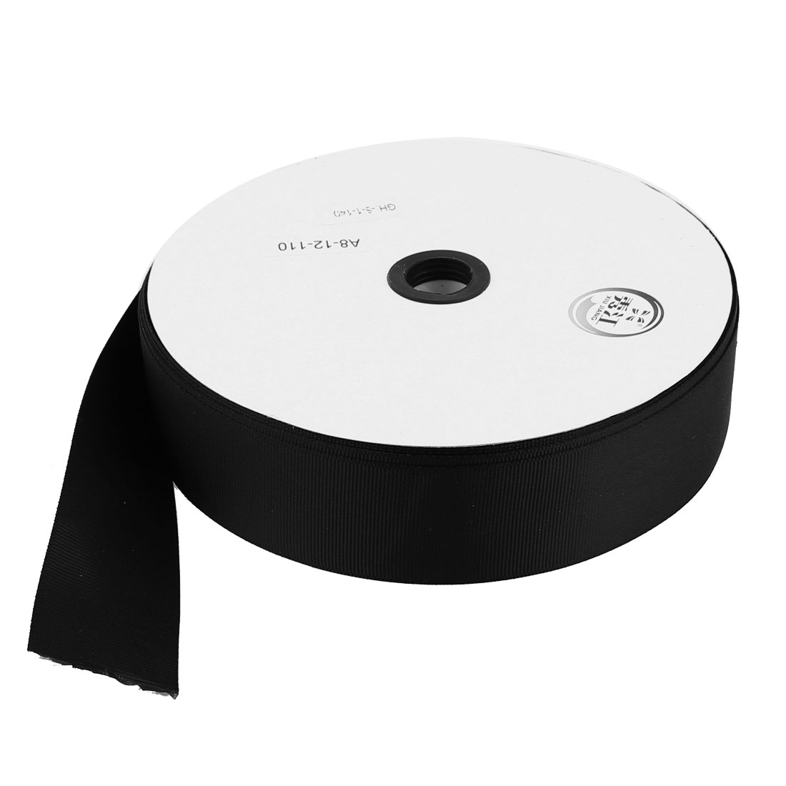 Black 3.8cm Width DIY Craft Gift Package Polyester Ribbon Roll Tape 100 Yard