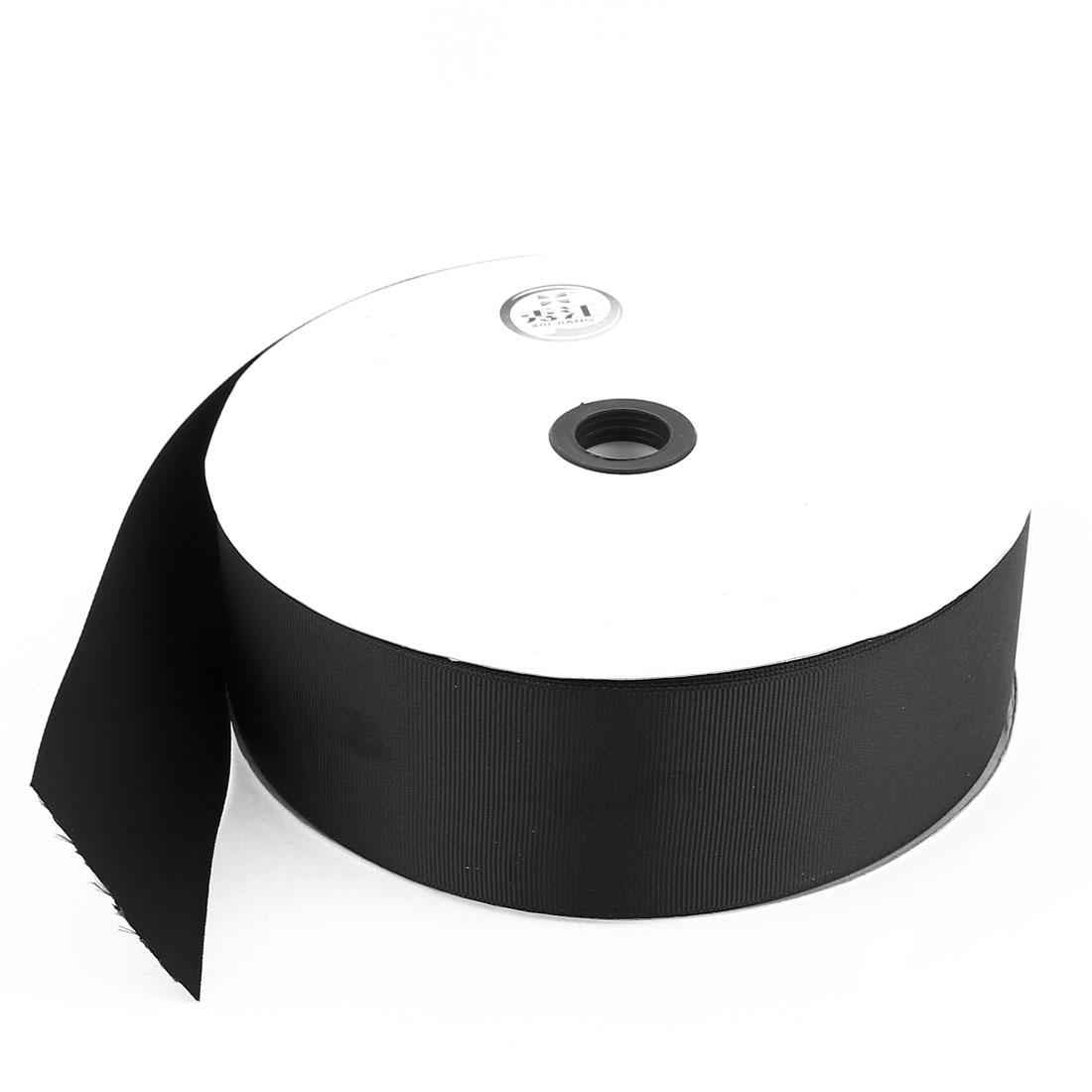 4.9cm Width DIY Craft Gift Package Polyester Ribbon Roll Tape Black 100 Yard 91.4m Length