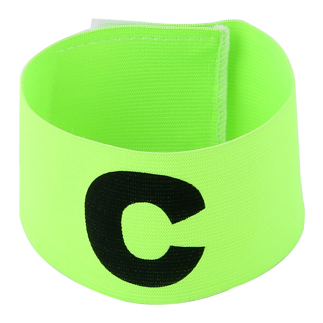 Character C Pattern Football Game Hook Loop Closure Elastic Armband Yellow Green