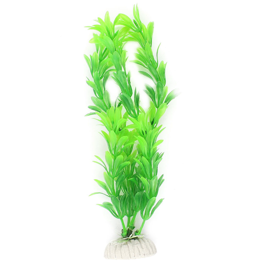 "Manmade Aquascaping Green Plastic Water Grass Plant Fish Tank Aquarium Ornament 8"""