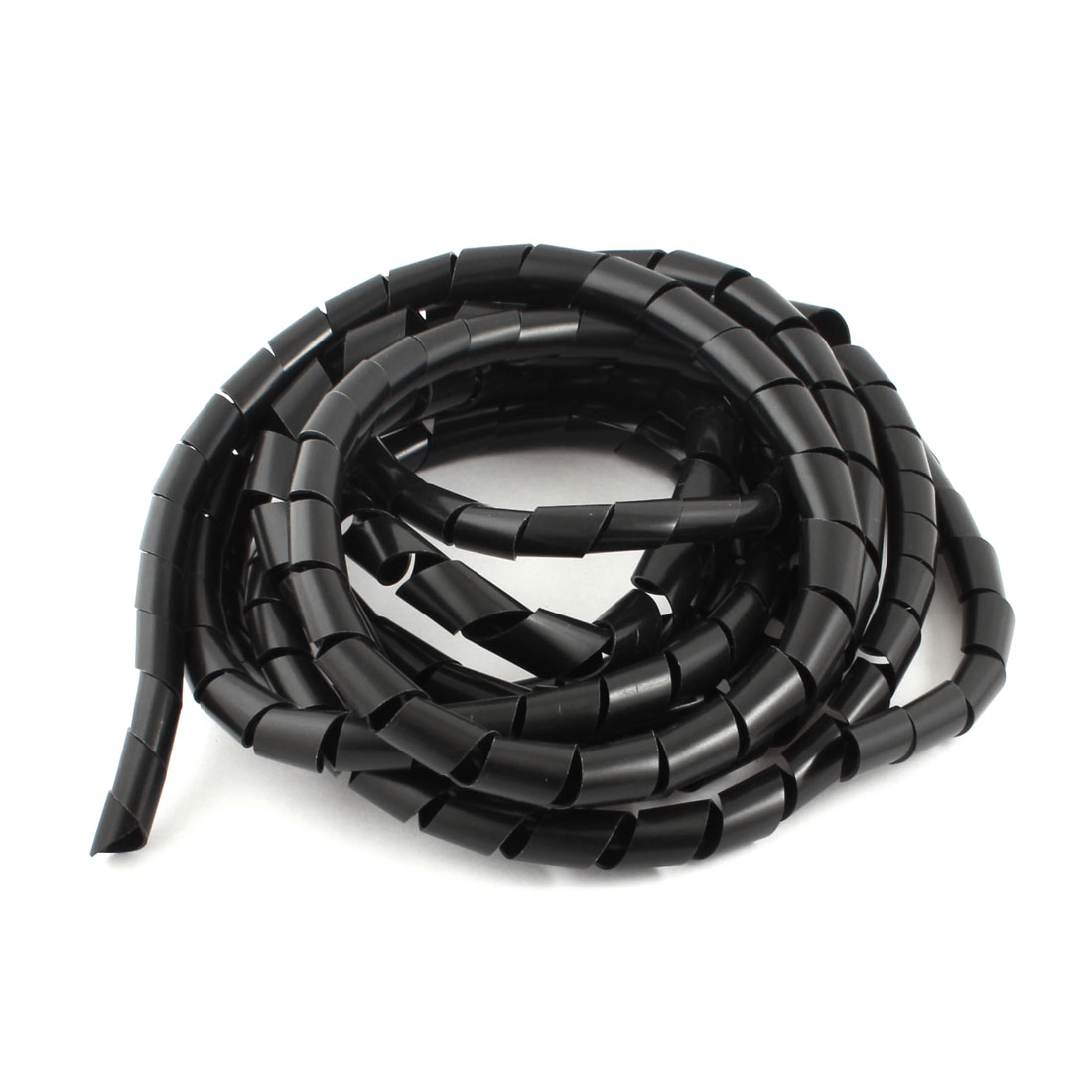 14mm Black Spiral Wrap Sleeving Band Tube Computer Manager Cable 5M Length