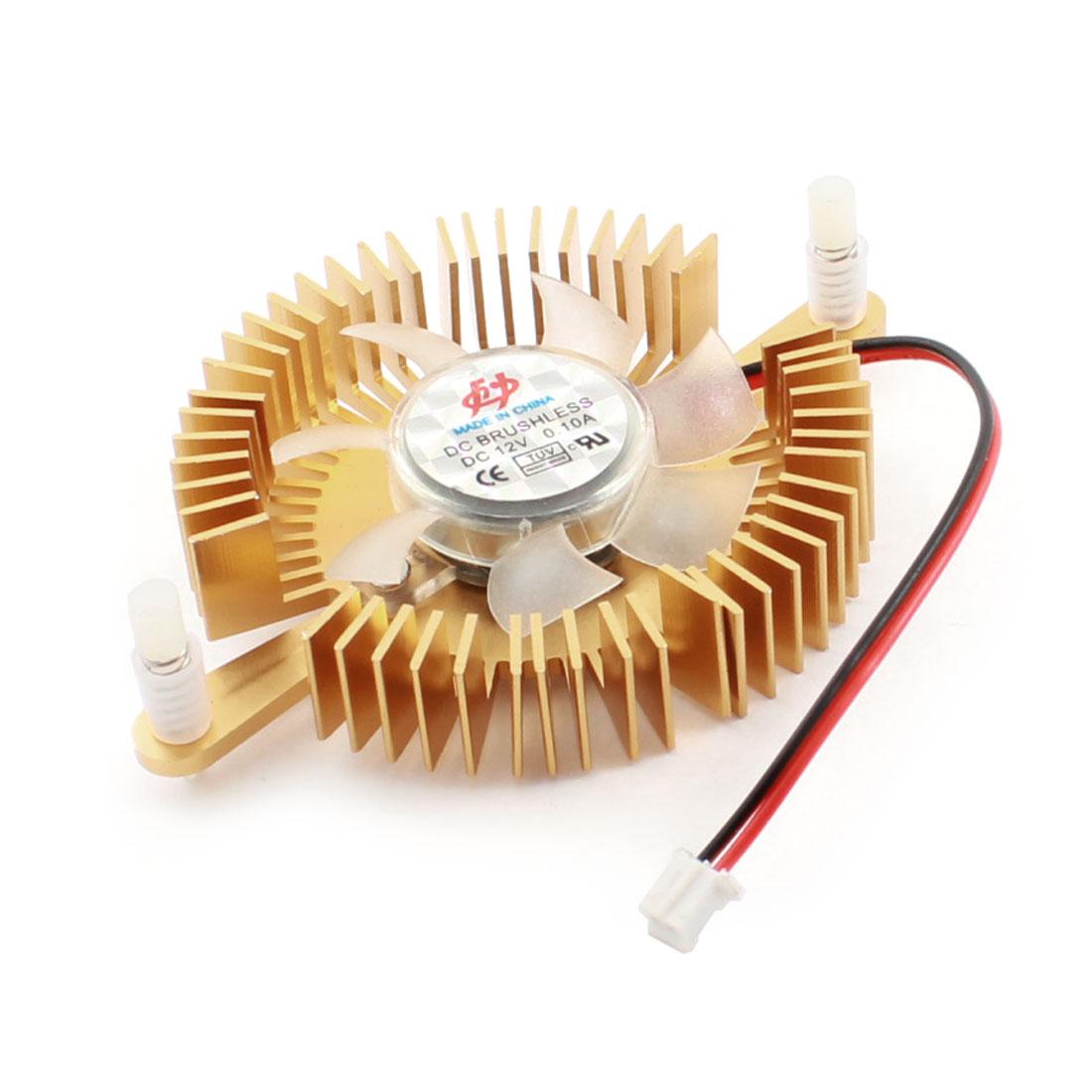 DC 12V 2 Pin JST-XH Plug Connector Aluminum Cooling Fan Cooler Heatsink for PC Computer Video Card