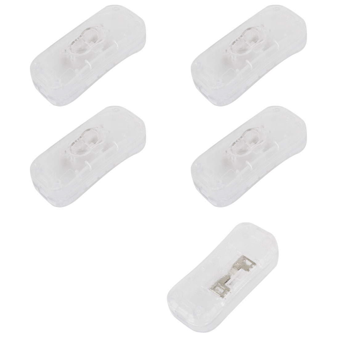 5pcs 1A AC250V Bedroom Table Lamp On/Off Controller Rocker Switch Clear