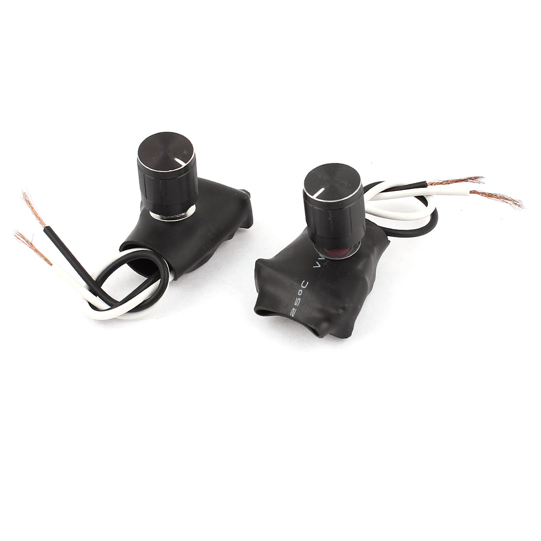 2pcs AC220V 1A Desk Table Lamp Light Bulb Dimmable Dimmer Switch Black
