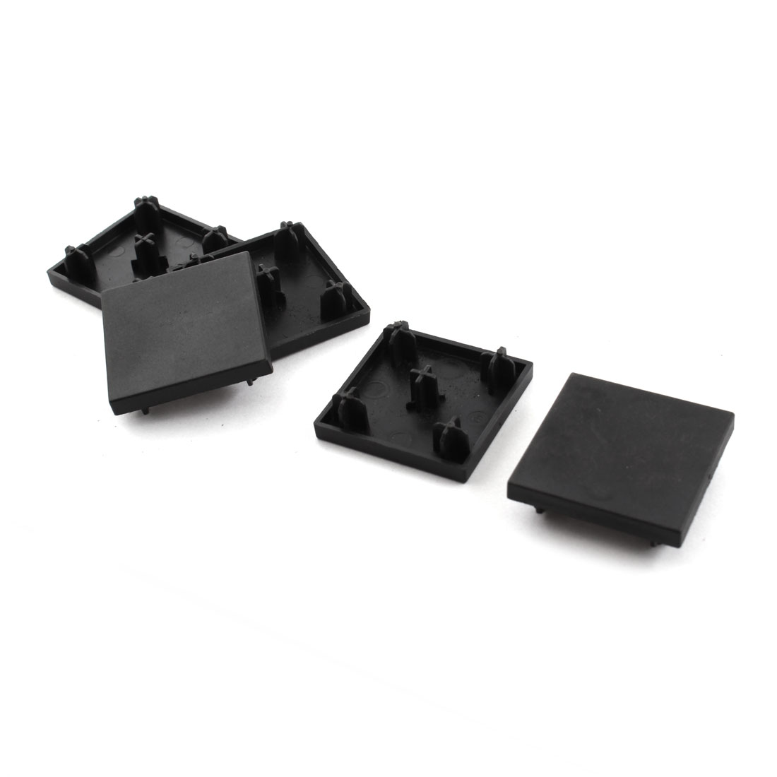 5 Pcs Black Square Extrusion End Cap Cover for 40mm x 40mm T-Slot Aluminum Profile