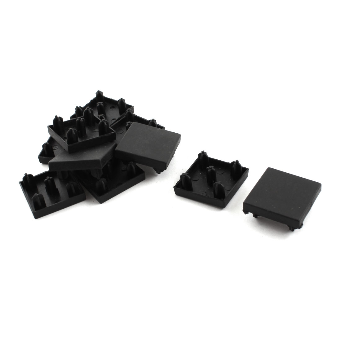 10Pcs Black Square Extrusion End Cap Cover for 30mm x 30mm T-Slot Aluminum Profile