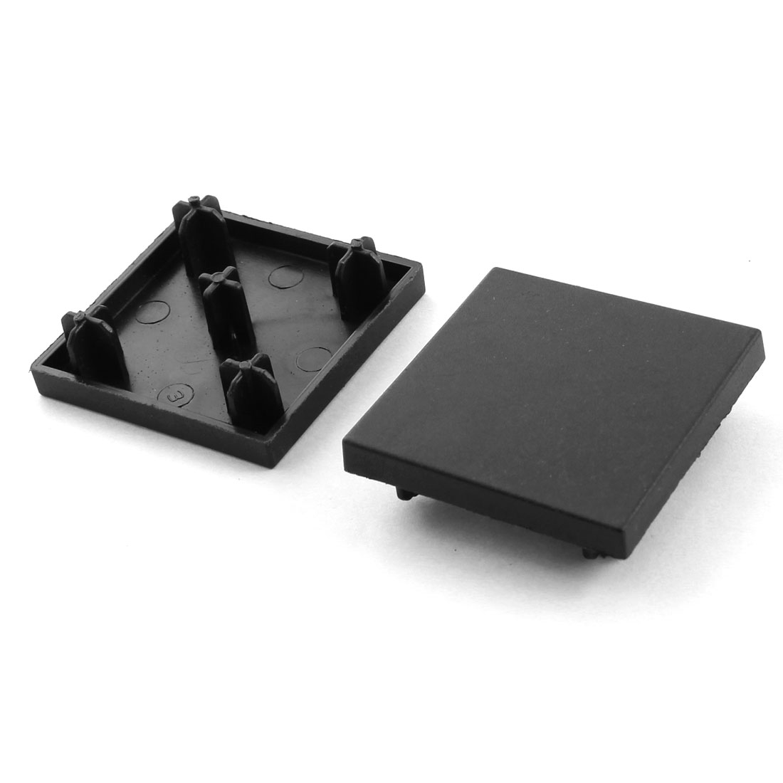 2Pcs 40mm x 40mm Square T-Slotted Aluminum Profile Extrusion End Cap Cover Black