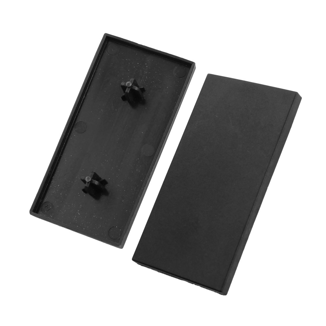 2Pcs Black Rectangle Extrusion End Cover for 80mm x 40mm T-Slot Aluminum Profile