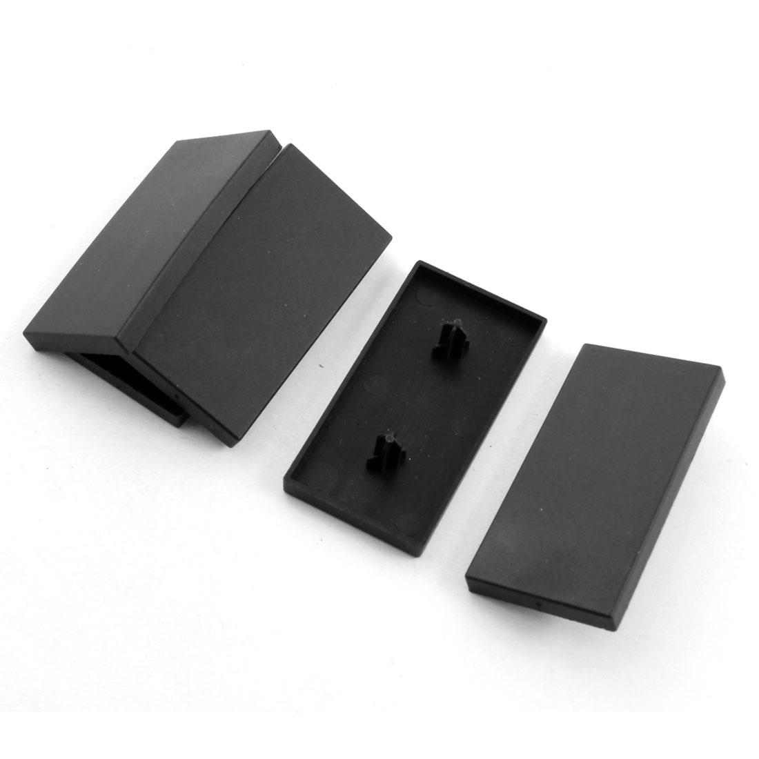 5 Pcs Black Rectangle Extrusion End Cover for 60mm x 30mm T-Slot Aluminum Profile