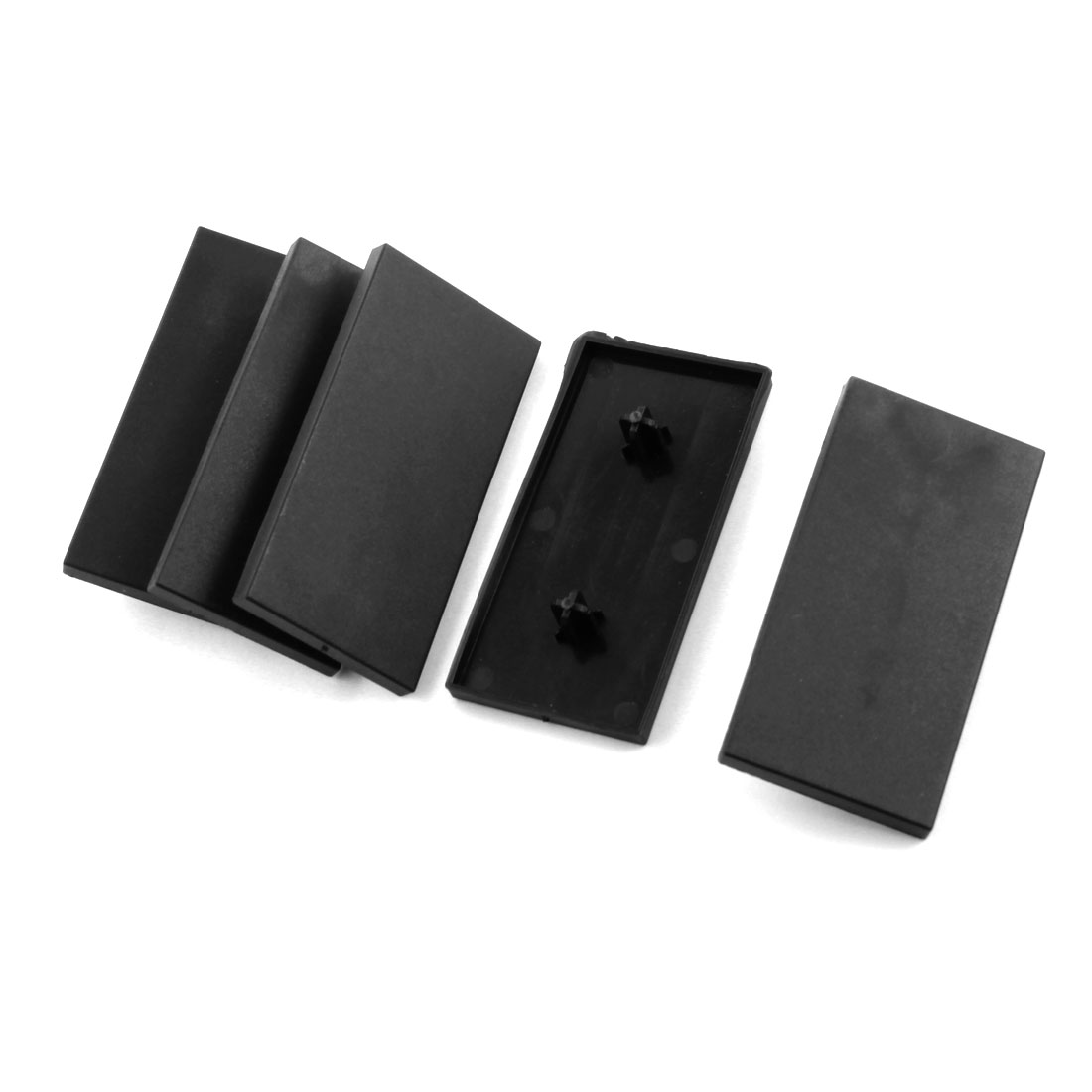 5Pcs Black Rectangle Extrusion End Cover for 80mm x 40mm T-Slot Aluminum Profile