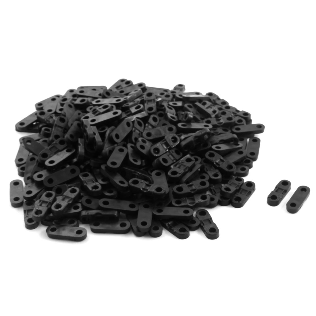 300Pcs 4x 1mm Black Plastic Cable Clamp Wire Tie Mount Screws Fixed Base