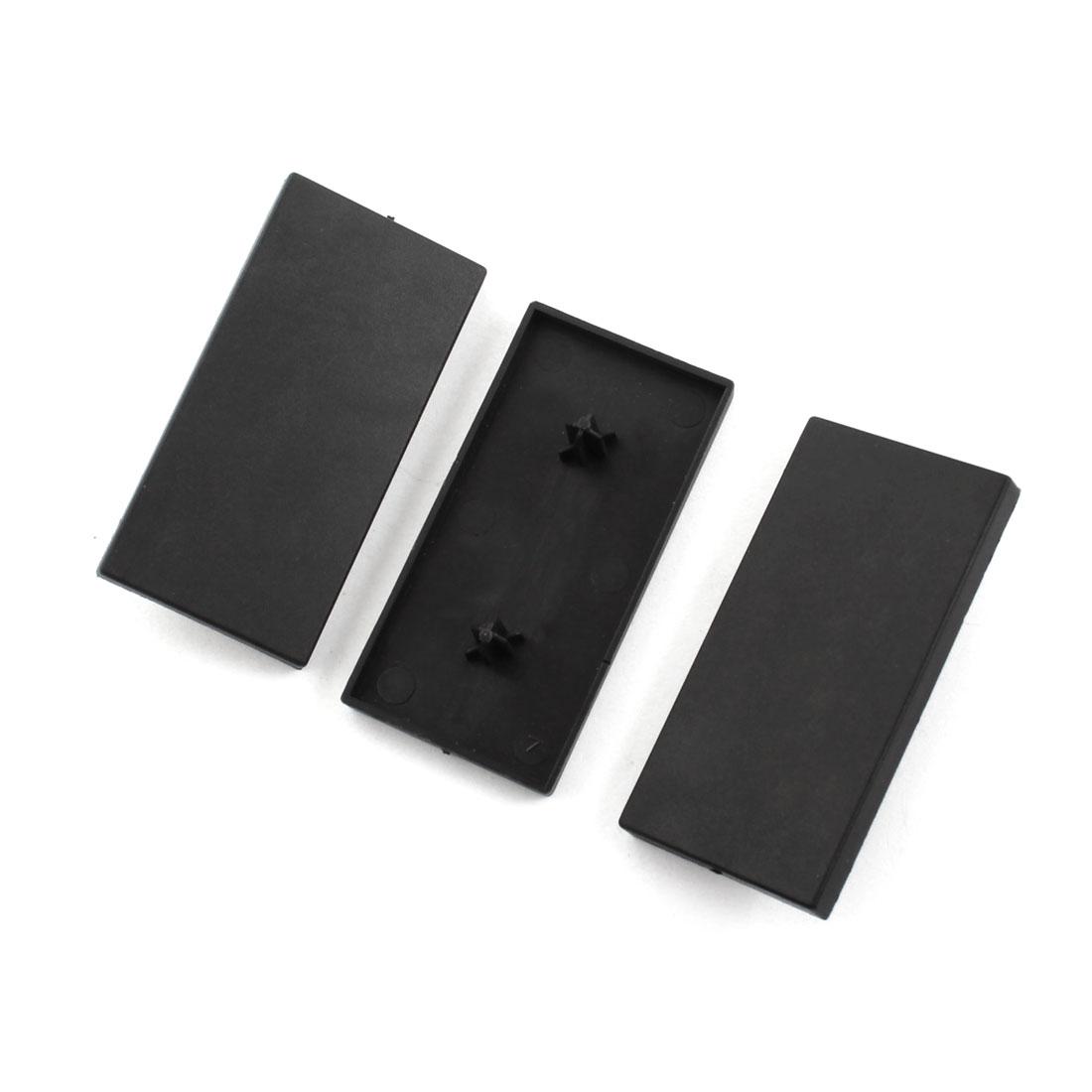 3Pcs Black Rectangle Extrusion End Cover for 60mm x 30mm T-Slot Aluminum Profile