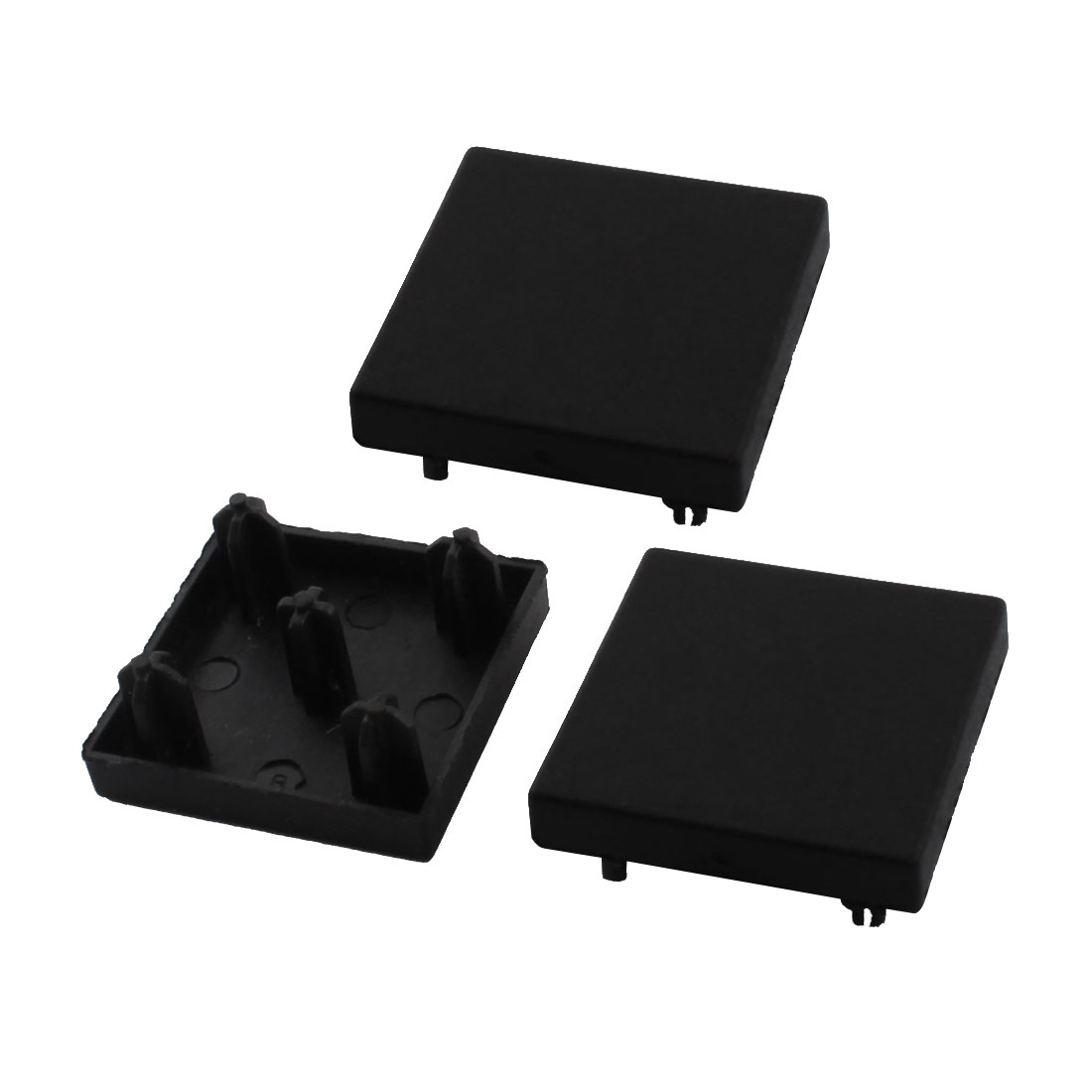 T-Slot Aluminum Profile Part Square Black Extrusion End Cap Cover 30mm x 30mm 3Pcs