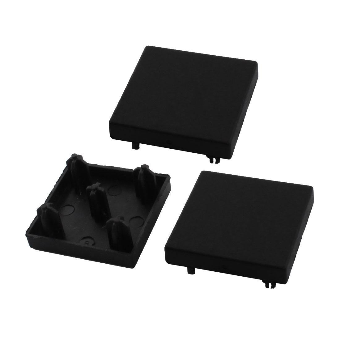 T-Slot Aluminum Profile Part Square Black Extrusion End Cap Cover 30mm x 30mm 3Pcs