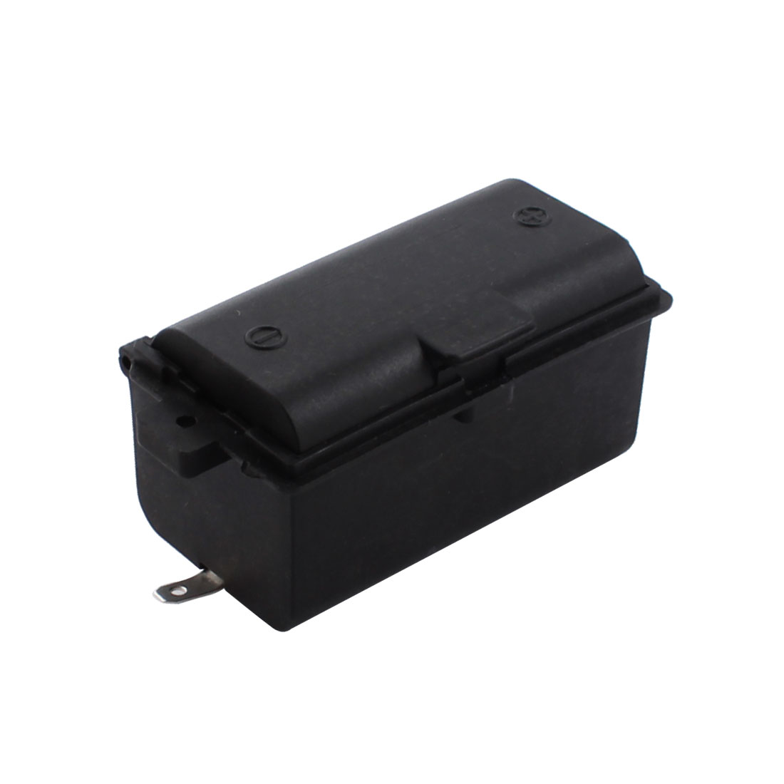 Spring Load Rectangle Black Plastic 1 x 1.5V D Size Battery Holder Storage Case Box for Cooker Stove