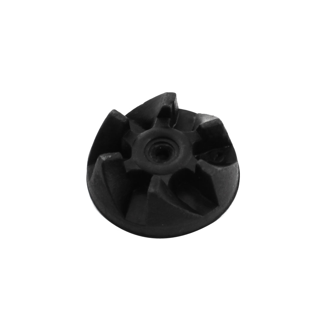 Electric Blender 6-Tooth Black Rubber Coupler Drive Clutch Adapter 37mm Dia 5mm Thread