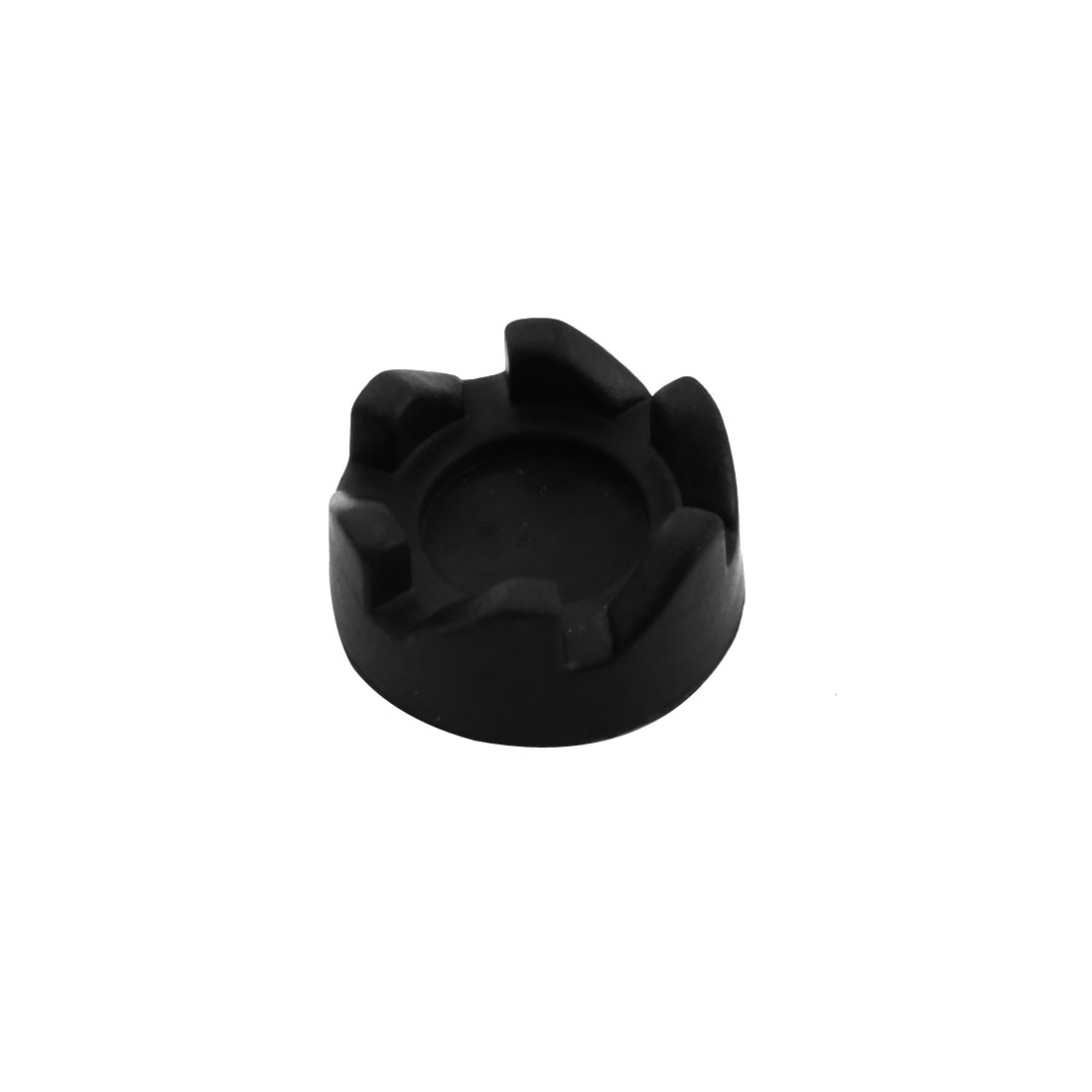 34mmx4mm 6-Teeth Electric Blender Rubber Rubber Coupler Drive Clutch Black