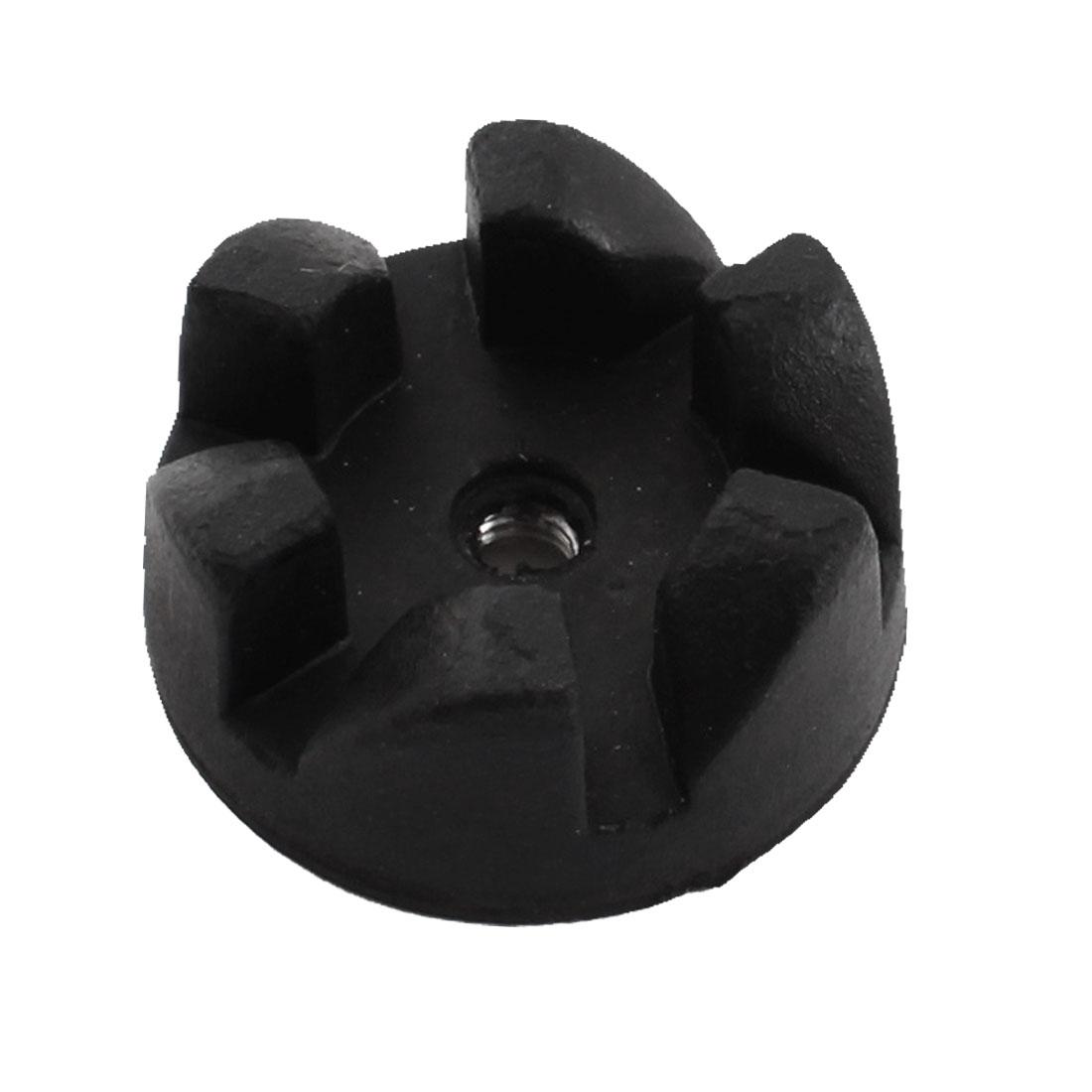 Kitchen Blender 6-Teeth Black Rubber Coupling Coupler Drive Clutch 4mm Thread