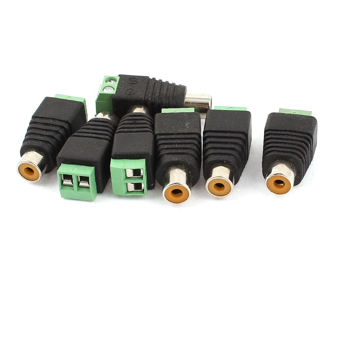 7pcs UTP Cat5/Cat6 Cable to AV RCA Female Screw Terminal Audio Video Connector