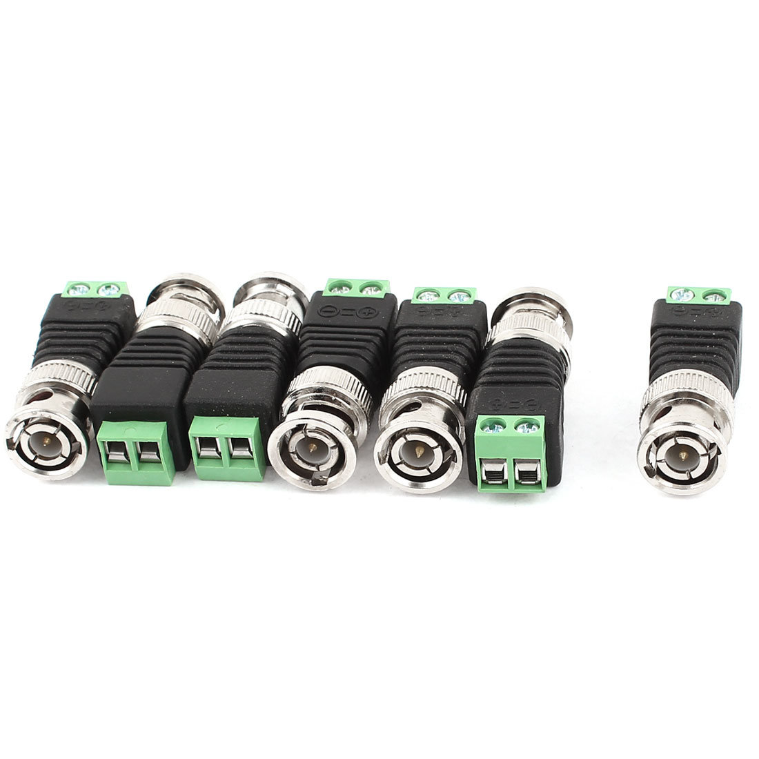 7 Pcs CAT5 Cat6 UTP to Coaxial BNC Male Connector Balun for CCTV Camera