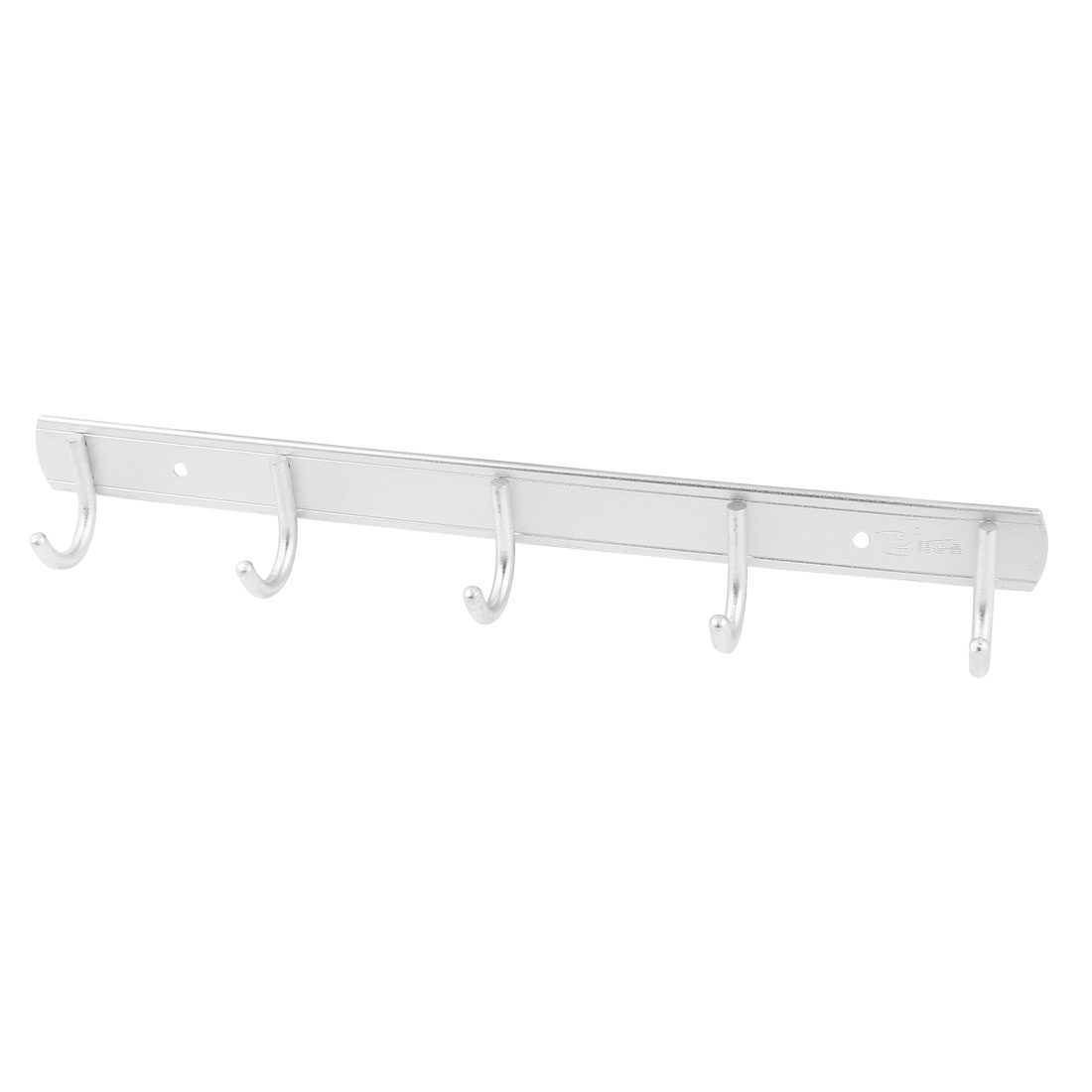 Household Aluminium Alloy Wall Mounted 5 Hooks Towel Rack Hanger 36cm