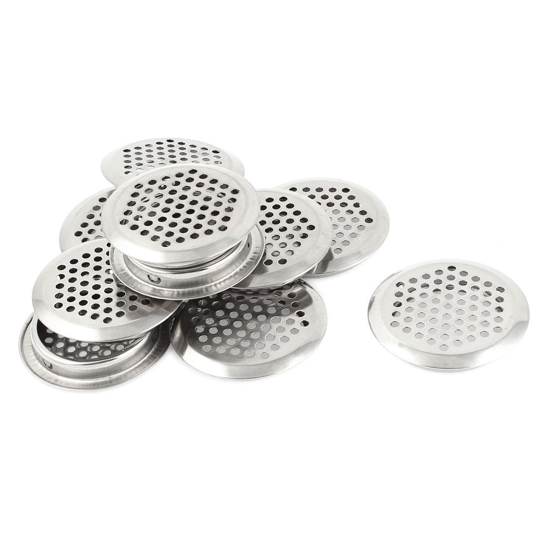 Kitchen Hardware Louver 52mm Bottom Dia Metal Round Design Air Vent 10 Pcs