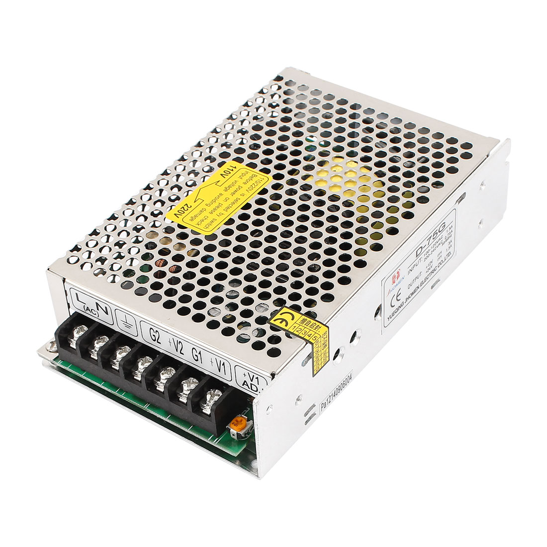AC100V-120V 1.5A / AC200-240V 0.75A LED Regulated Switching Power Supply Converter D-75G